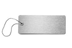 Blank metal dog tag isolated 3d illustration Stock Photo