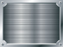 Blank metal plate Stock Photo