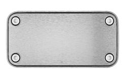 Blank Metal Plate Royalty Free Stock Photo