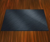 Blank Metal Plate On Table Royalty Free Stock Photo