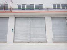 Blank metal shutter doors Royalty Free Stock Images