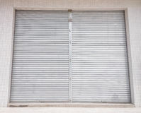 Blank metal shutter doors Stock Photography