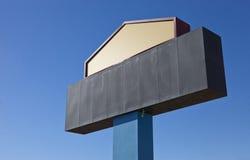 Blank Metal Sign. A large, metal billboard sign stock photo