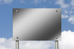 Blank Metal Sign royalty free stock photography