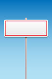 Blank metal sign and blue sky Stock Photography