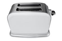 Blank metal toaster. Blank white metal toaster isolated Stock Image