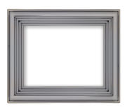 Blank metallic grey decorative rectangular frame Stock Photo