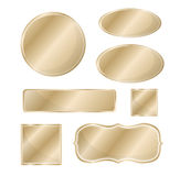 Blank metallic icon set bronze Royalty Free Stock Image