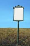 blank metallsignposten royaltyfria foton