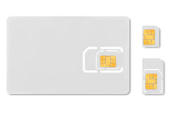 Blank micro sim card carrier Stock Photography