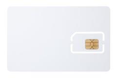 Blank micro sim card Stock Image
