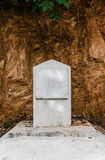Blank milestone on the road Royalty Free Stock Photos
