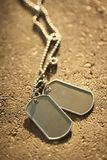Dog tags background. Blank military dog tags background Stock Images