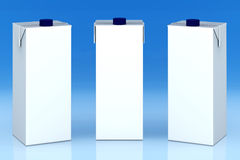 Blank milk boxes Royalty Free Stock Photography