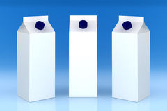 Blank milk boxes Stock Image