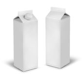Blank milk or juice carton cans Stock Photo