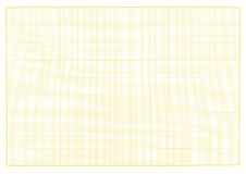 Blank millimeter grid yellow paper sheet background or textured. Royalty Free Stock Images