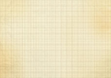 Blank millimeter old graph paper Royalty Free Stock Photo