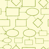 Blank mind map seamless pattern background Stock Photo