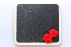 Blank mini blackboard Stock Photography