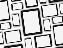 Blank mobile devices Stock Images