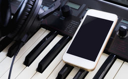 Blank mobile phone for Music Studio application Royalty Free Stock Photos