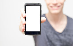 Blank mobile phone screen Stock Images