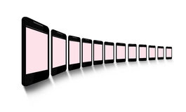 Blank mobile phone screens Royalty Free Stock Photography