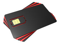 Blank mobile sim card Royalty Free Stock Image
