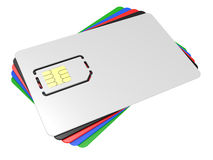 Blank mobile sim card Royalty Free Stock Images