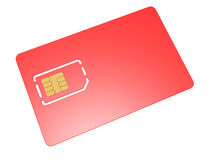 Blank mobile sim card Royalty Free Stock Photos