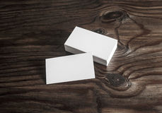 Blank mock-up of business cards Royalty Free Stock Images
