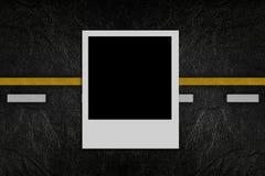 blank modellfotoväg Arkivbild