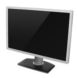 Blank modern computer display on white Royalty Free Stock Photography
