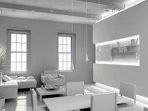 Blank modern  interior Stock Photography