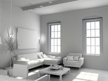 Blank modern  interior Stock Photos