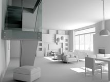 Blank modern interior Royalty Free Stock Images