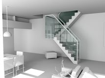 Blank modern interior Stock Image