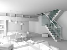 Blank modern interior Royalty Free Stock Photography