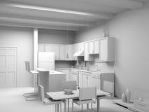 Blank modern kitchen interior Stock Photo