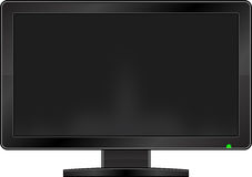 Blank Monitor. Isolated On White Royalty Free Stock Photo