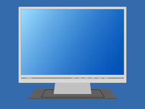 Blank monitor. An illustration of a blank lcd screen Stock Photo