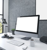 Blank monitor side Stock Images