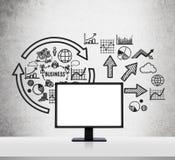 Blank monitor Stock Photos