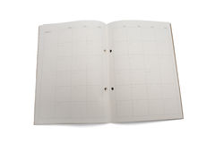 Blank monthly planner Stock Image