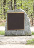 Blank Monument on a Rock ready for text. Stock Photo