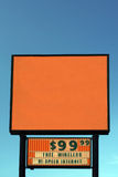 Blank Motel Sign. Generic Motel sign - You supply Message stock photos