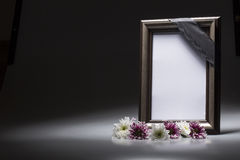 Blank mourning frame for sympathy card. For sympathy card blank mourning frame royalty free stock photos