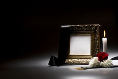 Blank mourning frame for sympathy card Royalty Free Stock Image