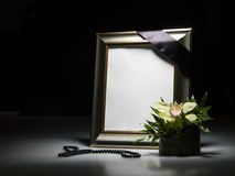 Blank mourning frame for sympathy card Royalty Free Stock Photos